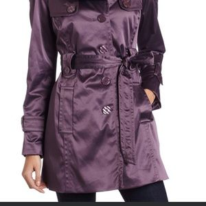 Jessica Simpson, Belted, Lined Trench, XL Purple
